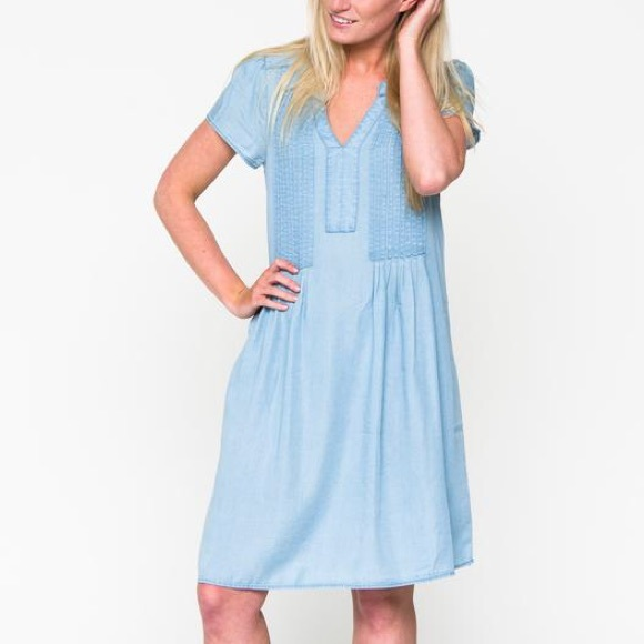 DownEast Dresses & Skirts - Spring Sky Chambray Dress